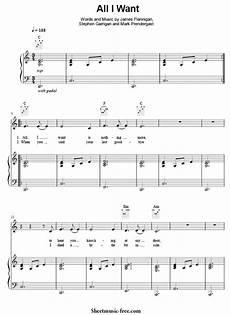 all i want sheet music kodaline sheetmusic free com