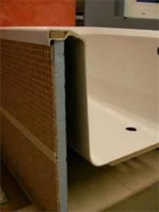 duschwand für badewanne badewannen auflage und verkleidung bauunternehmen
