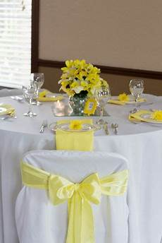 yellow white and grey wedding party table see more party