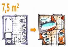 Badplanung Beispiel 7 5 Qm Badoase Auf Kleinem Raum In