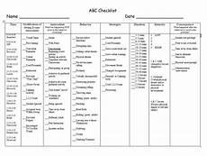 abc checklist exle 1 behavior plans classroom behavior management behavior interventions