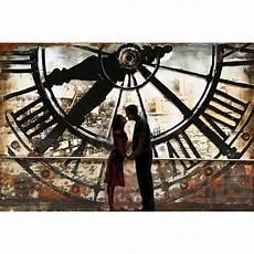 Tableau Contemporain Tout En M 233 Tal Sous Horloge