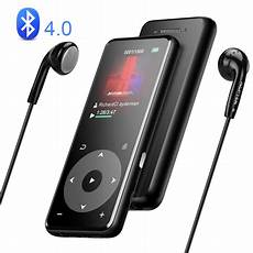 bluetooth mp3 player agptek 16gb bluetooth mp3 player with 1 8in tft screen