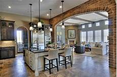 kitchen and floor decor arch to separate kitchen and living areas brick can t i just be joanna gaines in 2019