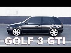 vw golf 3 mk3 gti edition big 17 inch rims black and