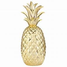 D 233 Co Ananas En C 233 Ramique Dor 233 E H 45cm Maisons Du Monde