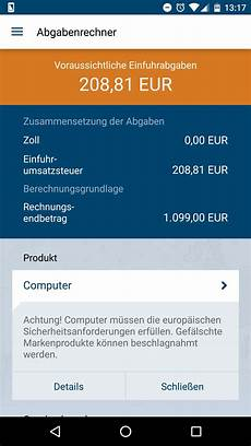 zoll und post android app chip
