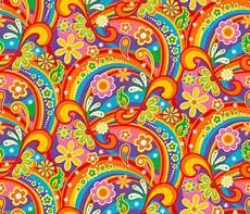 1960 Psychedelic Flower Power Fabric Mia Valdez