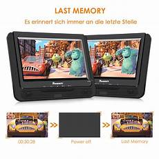 2 9 quot tragbar dvd player auto 2 monitore 5 stunden dual