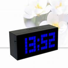free shipping large display modern clock light digital wall clock thermometer date time