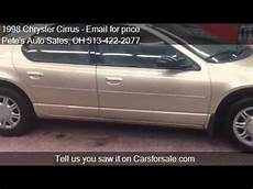 car manuals free online 1998 chrysler cirrus navigation system 1998 chrysler cirrus for sale in middletown oh 45044 at the youtube