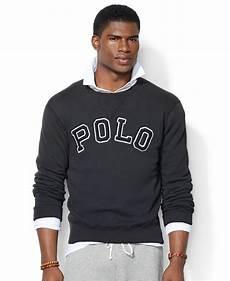 lyst polo ralph fleece crew neck sweatshirt in