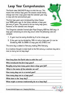 leap year comprehension