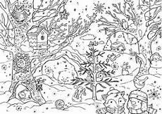 winterlandschaft malvorlage kinderbilder