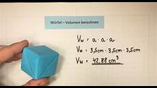 w 252 rfel volumen berechnen mathematik lehrerschmidt