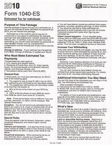 print irs form 1040 es 2010 quarterly estimated tax taxman123 com