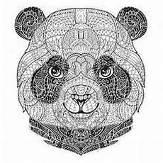 mandala black and white animal search coloring
