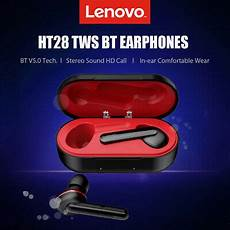 Lenovo Ht28 Bluetooth Earbuds Touch by Lenovo Ht28 Tws Earphones Bluetooth 5 0 Wireless