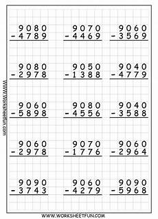 4th grade math subtraction regrouping worksheet 962 best guided math images on
