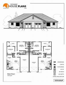 duplex house plans 1000 sq ft 1010 r duplex spokane house plans