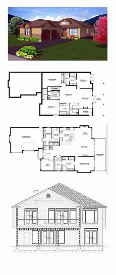 house plans walkout basement hillside hillside house plan 99981 total living area 1796 sq ft