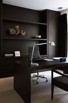 home office furniture black 25 gorgeous home offices with black walls digsdigs