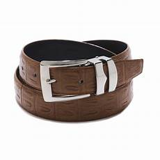 Solid Pattern Leather by S Bonded Leather Belt In Solid Colors Hornback Pattern