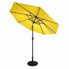 sunray 9 ft aluminum market solar lighted 8 rib patio umbrella with olefin canopy in