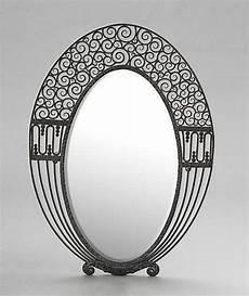 miroir design ovale d 233 co miroir ovale edgar brandt deco mirror