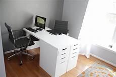 ikea minimalist two person desk ikea hackers