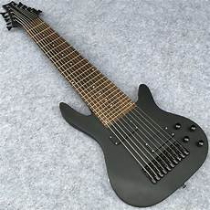 10 String Electric Bass In Matte Black Finish Maple Neck