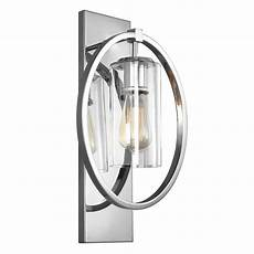 polished chrome wall light with glass shade lighting company