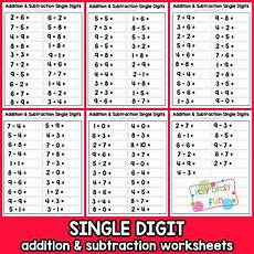 single digit addition and subtraction worksheets with pictures 9613 itsy bitsy printable worksheets coloring pages and more