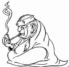 pfeiffe rauchender indianer ausmalbild malvorlage comics