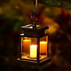 led solar powered wall l umbrella lantern candle lights