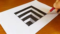 very easy how to draw 3d hole anamorphic illusion 3d trick art on paper youtube