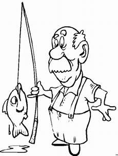 angler faengt einen fisch ausmalbild malvorlage sonstiges