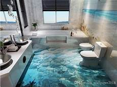 Wallpapers 3d Wall Dolphin Surf World 3d Bathroom