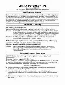 sle resume for a midlevel electrical engineer monster com