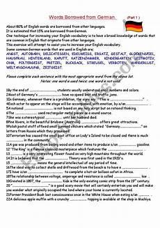 advanced german worksheets 19598 words borrowed from german 1 intermediate and advanced esl worksheet by noel l