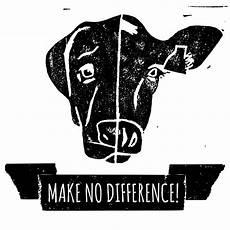 make no difference illustration linolschnitt grafik vegan