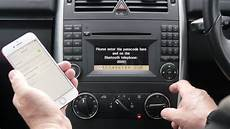 how to pair a phone to the bluetooth system in a mercedes