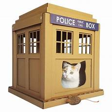 tardis cat house plans tardis cat houses shoebox dwelling finding comfort