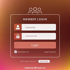 brown login form design free vector
