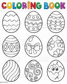 Ausmalbilder Ostern Eier Malvorlagen Ostern Eier Buchthema 3 Stock Vektor Und