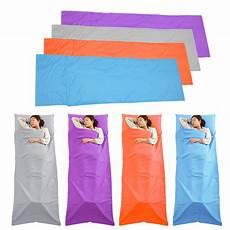 sleeping bag liner travel sleep sack sheet hiking cing tent mat pad f5 ebay