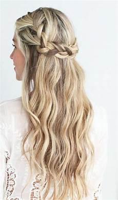 half up half down hair down hairstyles crown