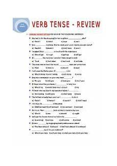 grammar worksheets about tenses 24706 worksheet verb tense review ingles
