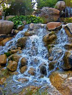 file waterfall at water garden jpg