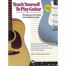 teach me how to play guitar alfred teach yourself to play the guitar book cd musician s friend
